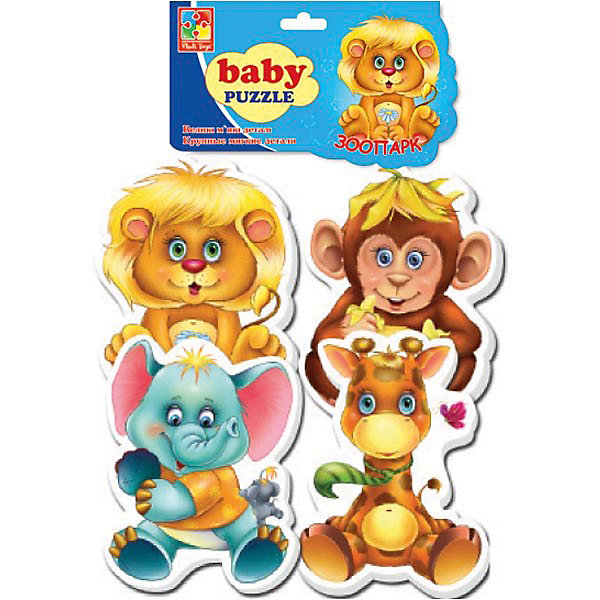 Мягкие пазлы Зоопарк, Vladi ToysПазлы для малышей<br>Характеристики:<br><br>• возраст: от 3 лет;<br>• материал: полимер, картон;<br>• комплектация: 24 эл.;<br>• вес: 50  гр;<br>• размер: 34x25x0.3  см;<br>• бренд: Vladi Toys.<br><br>Мягкие паззлы «Зоопарк», Vladi Toys подойдет для детей от 3 лет. Помогите расставить животных Зоопарка на свои места и обязательно сохраните картинку на память, а если захотите, то соберите еще несколько раз, у кого быстрее это получится. Элементы деталей пазла складываются в знакомый сюжет и порадуют вашего малыша такому замечательному успеху и умению так быстро собирать картинку. Пазл - это увлекательная игра для всей семьи. <br><br>Пазлы можно собирать несколько раз или сохранить получившуюся картинку на память, благодаря толщине и плотности деталей картинка крепко держится и не распадается без применения усилий. Зарядите вашего ребенка хорошим настроением, оживите сюжет любимого мультика у себя дома!<br><br>Мягкие пазлы «Зоопарк», Vladi Toys можно купить в нашем интернет-магазине.<br>Ширина мм: 155; Глубина мм: 270; Высота мм: 20; Вес г: 34; Возраст от месяцев: 24; Возраст до месяцев: 60; Пол: Унисекс; Возраст: Детский; SKU: 4954023;