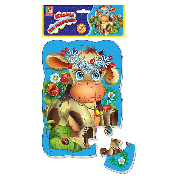 Vladi Toys Пазлы на магните Коровка, Vladi Toys