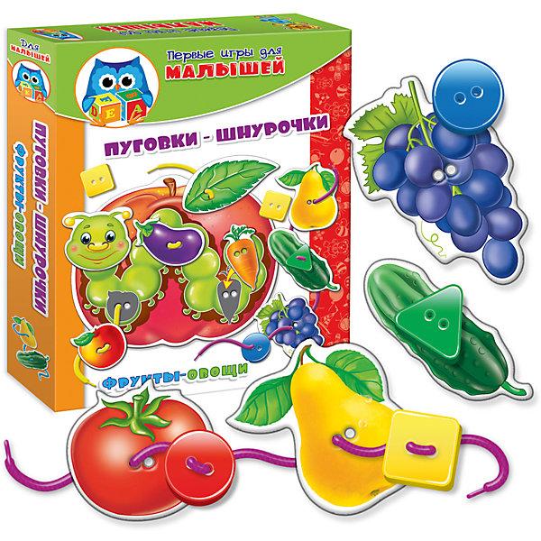 Vladi Toys Набор развивающих игр Фрукты-овощи, Vladi Toys развивающие игрушки vladi toys ни пуговки шнурочки фрукты овощи