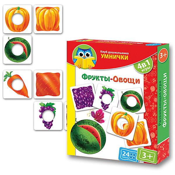 Vladi Toys Игра Фрукты-Овощи, Vladi Toys vladi toys кд умнички пиши и вытирай корова