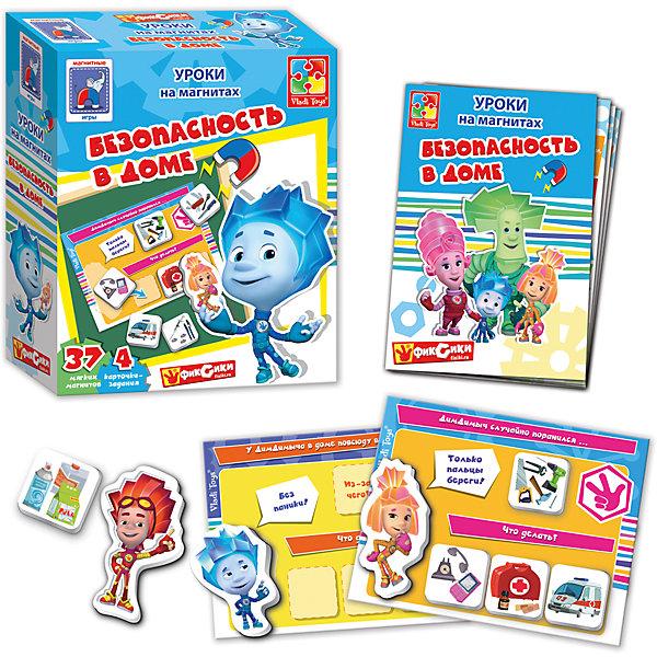 Магнитная игра Безопасность в доме, Фиксики, Vladi ToysОбучающие игры для дошкольников<br>Характеристики:<br><br>• возраст: от 3 лет;<br>• материал: картон, магнит;<br>• вес: 220 гр;<br>• размер: 20x17х6 см;<br>• бренд: Vladi Toys.<br><br>Магнитная игра «Безопасность в доме», Фиксики, Vladi Toy выполнена по мотивам популярного мультика Фиксики. Любимые персонажи смогут научить ребенка элементарным правилам безопасности, которым обязательно нужно следовать. В комплект входят карточки с заданиями и множество фигурных магнитов с цветными картинками.<br><br>Магнитную игру ««Безопасность в доме», Фиксики, Vladi Toy можно купить в нашем интернет-магазине.<br>Ширина мм: 160; Глубина мм: 195; Высота мм: 60; Вес г: 230; Возраст от месяцев: 36; Возраст до месяцев: 84; Пол: Унисекс; Возраст: Детский; SKU: 4954080;