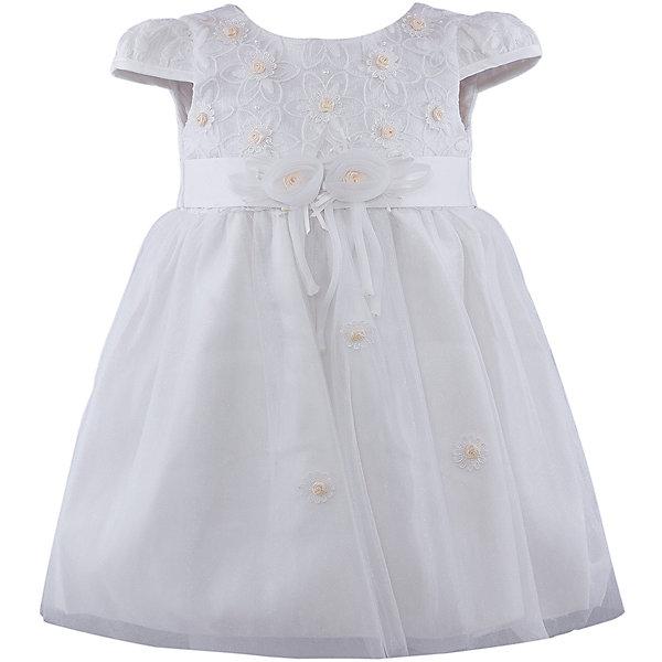 Нарядное платье для девочки VitacciОдежда<br>Платье для девочки от известного бренда Vitacci.<br>Очаровательное платье для маленькой принцессы. Модель отрезная по линии талии,с застёжкой молнией на спинке.<br>Состав:<br>100% полиэстер<br>Ширина мм: 236; Глубина мм: 16; Высота мм: 184; Вес г: 177; Цвет: желтый/белый; Возраст от месяцев: 12; Возраст до месяцев: 15; Пол: Женский; Возраст: Детский; Размер: 80,120,110,100,90; SKU: 4956097;