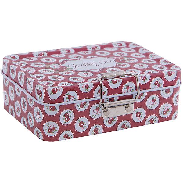 Коробка для безделушек и мелочей Шебби шик красная (12.5*9*4см)Детские предметы интерьера<br>Коробка для безделушек и мелочей Шебби шик красная изготовлена из металла, закрывается крышкой и застежкой, есть съемное отделение. Коробка украшена симпатичным рисунком, достаточно вместительная и отлично подойдет для хранения небольших вещей. Такая коробка приятно дополнит интерьер комнаты или станет восхитительным подарком близкому человеку.<br><br>Дополнительная информация:<br>Дополнительное съемное отделение<br>Материал:  металл<br>Размер: 12,5х9х4 см<br>Коробку для безделушек и мелочей Шебби шик красная вы можете купить в нашем интернет-магазине.<br>Ширина мм: 310; Глубина мм: 460; Высота мм: 460; Вес г: 151; Возраст от месяцев: 84; Возраст до месяцев: 216; Пол: Унисекс; Возраст: Детский; SKU: 4957959;