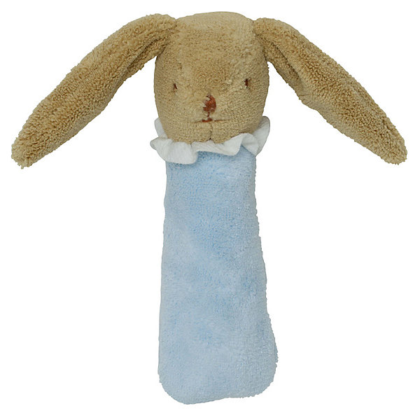 TROUSSELIER Мягкая погремушка Зайка, голубая, 17см , Trousselier мягкая игрушка погремушка котик