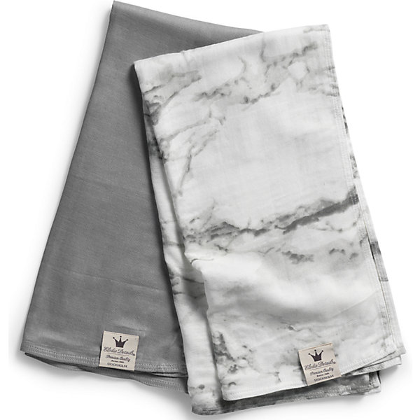 Elodie Details Плед Marble Grey (2 шт.), Elodie Details (бамбук) дождевик на коляску elodie details golden grey