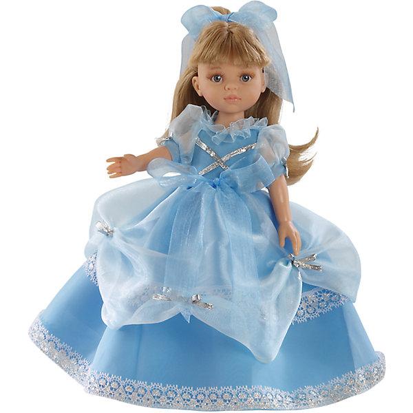 Кукла Карла принцесса, 32см, Paola ReinaКуклы<br>Кукла изготовлена из винила; глаза выполнены в виде кристалла из прозрачного твердого пластика; волосы сделаны из высококачественного нейлона.<br>Ширина мм: 230; Глубина мм: 230; Высота мм: 410; Вес г: 708; Возраст от месяцев: 36; Возраст до месяцев: 144; Пол: Женский; Возраст: Детский; SKU: 4966350;