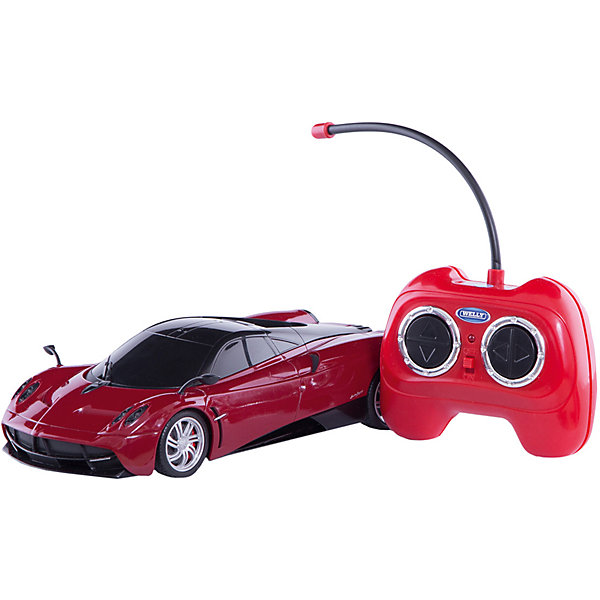 Модель машины 1:24 Pagani Huayra, р/у, WellyРадиоуправляемые машины<br>Модель машины 1:24 Pagani Huayra, р/у, Welly<br><br>Характеристики:<br><br>• Цвет: красный<br>• Модель: Pagani Huayra<br>• Материал: пластик, металл<br>• Размер упаковки: 7х13х18 см<br>• Размер машинки: 13х4 см<br><br>Машинка полностью повторяет внешний вид настоящей машины Pagani Huayra. Она сможет дополнить коллекцию автомобилей или просто разнообразит игру ребенка. Игрушка сделана из качественного материала, который не только не вреден ребенку, но и очень крепок. В машинке открываются дверки и инерционный механизм. Кроме этого она оснащена звуковым и световым сопровождением.<br><br>Модель машины 1:24 Pagani Huayra, р/у, Welly можно купить в нашем интернет-магазине.<br>Ширина мм: 110; Глубина мм: 130; Высота мм: 260; Вес г: 497; Возраст от месяцев: 36; Возраст до месяцев: 192; Пол: Мужской; Возраст: Детский; SKU: 4966560;