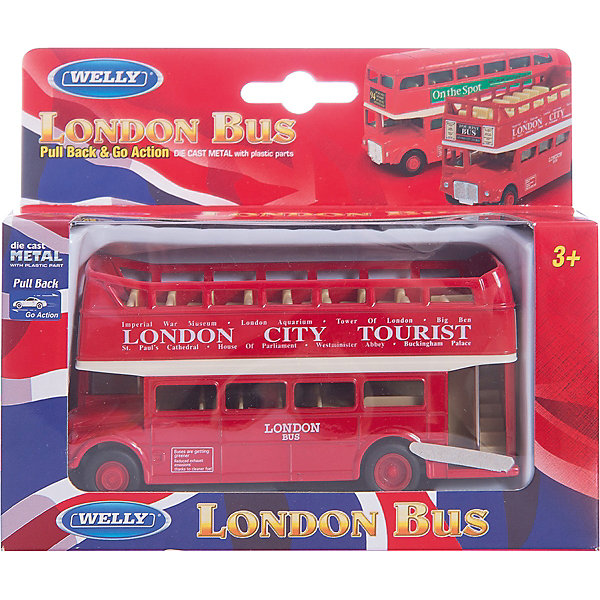 Welly Модель автобуса London Bus открытый, Welly welly london bus 99930