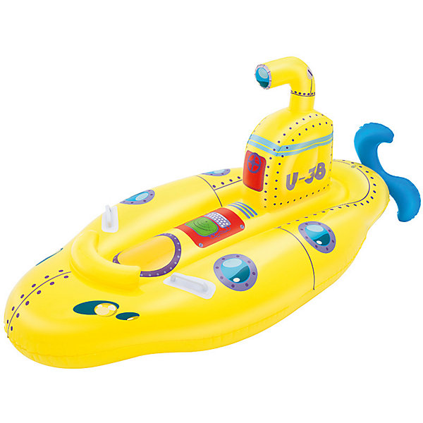 Игрушка для катания верхом Субмарина, BestwayМатрасы и лодки<br>Характеристики товара:<br><br>• материал: винил<br>• размер: 165х86 см<br>• легкий прочный материал<br>• удобное сиденье<br>• продуманная конструкция обеспечивает надежность<br>• надувной <br>• яркий цвет<br>• комфортный<br>• хорошо заметен на воде<br>• возраст: от 3 лет<br>• страна бренда: США, Китай<br>• страна производства: Китай<br>• Внимание! Товар в ассортименте, нет возможности выбрать товар конкретной расцветки. При заказе нескольких штук возможно получение одинаковых.<br><br>Это отличный способ научить малышей не бояться воды и обеспечить детям веселое времяпровождение! Лодочка поможет ребенку больше времени проводить на воде.<br><br>Предмет сделан из прочного материала, но очень легкого - отлично держится на воде. Он легкий и компактный в сдутом виде, его удобно брать с собой. Изделие произведено из качественных и безопасных для детей материалов.<br><br>Игрушку для катания верхом Субмарина, от бренда Bestway (Бествей) можно купить в нашем интернет-магазине.<br>Ширина мм: 259; Глубина мм: 246; Высота мм: 86; Вес г: 1163; Возраст от месяцев: 36; Возраст до месяцев: 84; Пол: Унисекс; Возраст: Детский; SKU: 4967555;