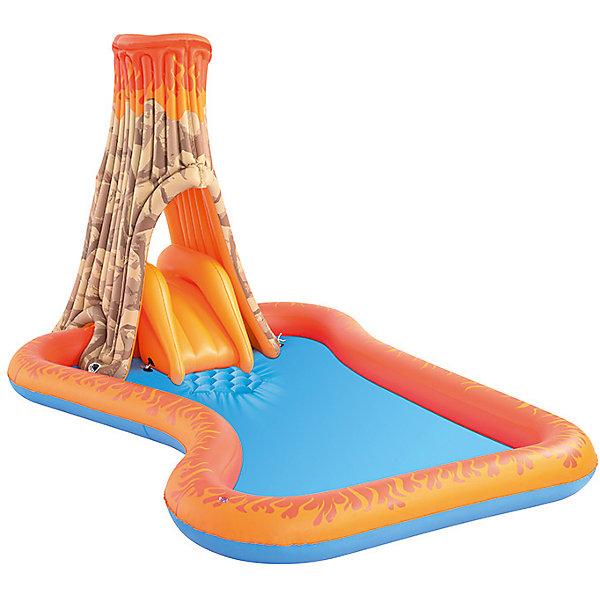 Bestway Игровой бассейн с брызгалкой и горкой Вулкан, Bestway bestway детский игровой бассейн баскетбол bestway