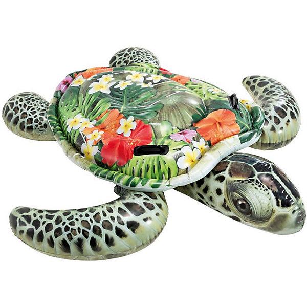 Intex Надувная игрушка для плавания Intex Черепаха, большая байдарка надувная intex challenger к1 с насосом и веслами цвет зеленый серый черный 274 х 76 х 38 см