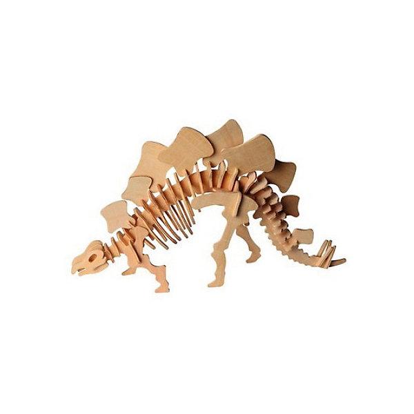 Стегозавр (серия Ж), Мир деревянных игрушекДеревянные модели<br>Отличный способ для ребенка с пользой провести время и развить свои навыки - сделать деревянную игрушку самому! Специально для любящих творчество и интересующихся вымершими животными были разработаны эти 3D-пазлы. Из них получаются красивые очень реалистичные фигуры, которые могут стать украшением комнаты.<br>Собирая их, ребенок будет учиться соотносить фигуры, развивать пространственное мышление, память и мелкую моторику. А раскрашивая готовое произведение, дети научатся подбирать цвета и будут развивать художественные навыки. Этот набор произведен из качественных и безопасных для детей материалов - дерево тщательно обработано.<br><br>Дополнительная информация:<br><br>материал: дерево;<br>цвет: бежевый;<br>элементы: пластины с деталями для сборки;<br>размер упаковки: 23 х 37 см.<br><br>3D-пазл Стегозавр (серия Ж) от бренда Мир деревянных игрушек можно купить в нашем магазине.<br>Ширина мм: 350; Глубина мм: 30; Высота мм: 225; Вес г: 725; Возраст от месяцев: 36; Возраст до месяцев: 144; Пол: Унисекс; Возраст: Детский; SKU: 4969030;