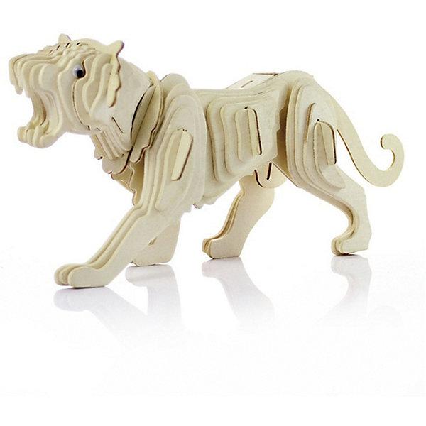 Тигр (серия М), Мир деревянных игрушекДеревянные модели<br>Развивать свои способности ребенок может, сам собирая деревянные фигуры! Специально для любящих творчество и интересующихся животным миром были разработаны эти 3D-пазлы. Из них получаются красивые очень реалистичные фигуры, которые могут стать украшением комнаты. Для этого нужно выдавить из пластины с деталями элементы для сборки и соединить их. <br>Собирая их, ребенок будет учиться соотносить фигуры, развивать пространственное мышление, память и мелкую моторику. А раскрашивая готовое произведение, дети научатся подбирать цвета и будут развивать художественные навыки. Этот набор произведен из качественных и безопасных для детей материалов - дерево тщательно обработано.<br><br>Дополнительная информация:<br><br>материал: дерево;<br>цвет: бежевый;<br>элементы: пластины с деталями для сборки;<br>размер упаковки: 23 х 37 см.<br><br>3D-пазл Тигр (серия М) от бренда Мир деревянных игрушек можно купить в нашем магазине.<br>Ширина мм: 250; Глубина мм: 50; Высота мм: 225; Вес г: 450; Возраст от месяцев: 36; Возраст до месяцев: 144; Пол: Унисекс; Возраст: Детский; SKU: 4969060;