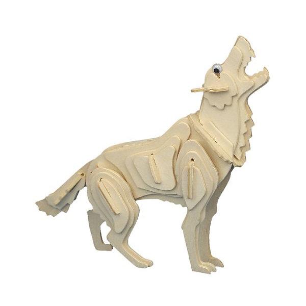 Волк, Мир деревянных игрушекДеревянные модели<br>Развивать свои способности ребенок может, сам собирая деревянные фигуры! Специально для любящих творчество и интересующихся животным миром были разработаны эти 3D-пазлы. Из них получаются красивые очень реалистичные фигуры, которые могут стать украшением комнаты. Для этого нужно выдавить из пластины с деталями элементы для сборки и соединить их. <br>Собирая их, ребенок будет учиться соотносить фигуры, развивать пространственное мышление, память и мелкую моторику. А раскрашивая готовое произведение, дети научатся подбирать цвета и будут развивать художественные навыки. Этот набор произведен из качественных и безопасных для детей материалов - дерево тщательно обработано.<br><br>Дополнительная информация:<br><br>материал: дерево;<br>цвет: бежевый;<br>элементы: пластины с деталями для сборки;<br>размер упаковки: 23 х 18 см.<br><br>3D-пазл Волк от бренда Мир деревянных игрушек можно купить в нашем магазине.<br>Ширина мм: 225; Глубина мм: 30; Высота мм: 180; Вес г: 450; Возраст от месяцев: 36; Возраст до месяцев: 144; Пол: Унисекс; Возраст: Детский; SKU: 4969076;