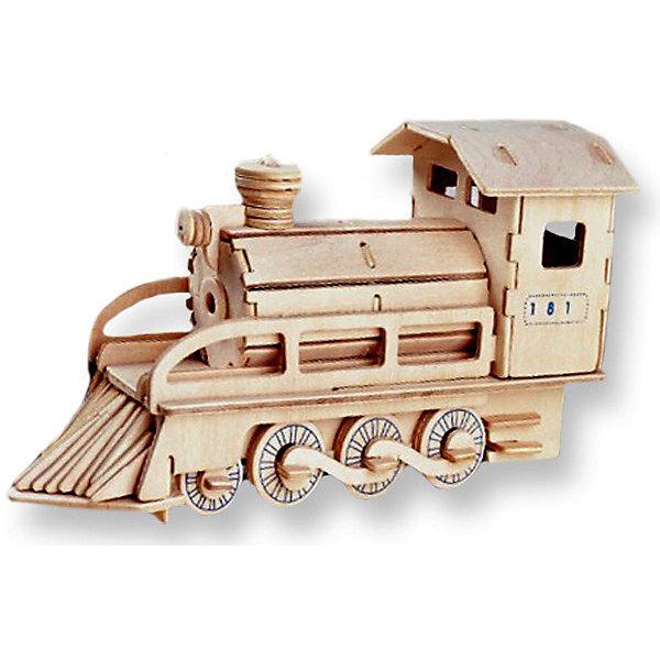Локомотив, Мир деревянных игрушекДеревянные модели<br>Порадовать любящего технику творческого ребенка - легко! Подарите ему этот набор, из которого можно самому сделать красивую деревянную фигуру. Для этого нужно выдавить из пластины с деталями элементы для сборки и соединить их. Из наборов получаются красивые очень реалистичные игрушки, которые могут стать украшением комнаты.<br>Собирая их, ребенок будет развивать пространственное мышление, память и мелкую моторику. А раскрашивая готовое произведение, дети научатся подбирать цвета и будут развивать художественные навыки. Этот набор произведен из качественных и безопасных для детей материалов - дерево тщательно обработано.<br><br>Дополнительная информация:<br><br>материал: дерево;<br>цвет: бежевый;<br>элементы: пластины с деталями для сборки, схема сборки;<br>размер упаковки: 23 х 18 см.<br><br>3D-пазл Локомотив от бренда Мир деревянных игрушек можно купить в нашем магазине.<br>Ширина мм: 350; Глубина мм: 50; Высота мм: 225; Вес г: 450; Возраст от месяцев: 36; Возраст до месяцев: 144; Пол: Унисекс; Возраст: Детский; SKU: 4969091;