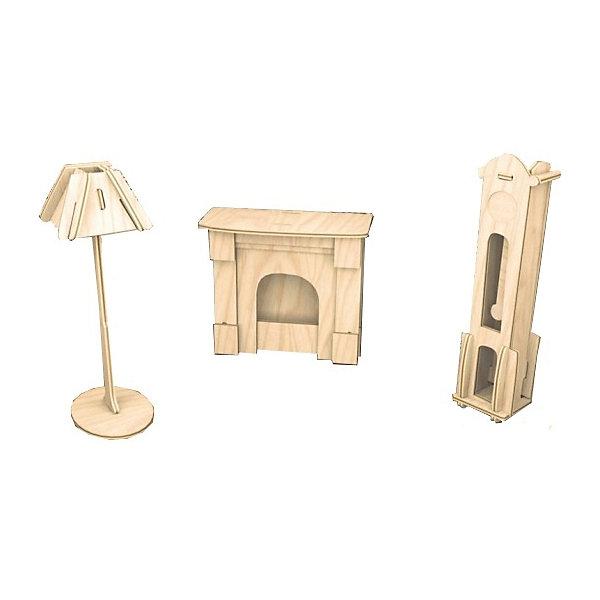Часы и лампа, Мир деревянных игрушекДеревянные модели<br>Отличный вариант подарка для творческого ребенка - этот набор, из которого можно самому сделать красивую деревянную фигуру! Для этого нужно выдавить из пластины с деталями элементы для сборки и соединить их. Из наборов получаются красивые очень реалистичные игрушки, которые могут стать украшением комнаты или участвовать в играх с куклами.<br>Собирая их, ребенок будет развивать пространственное мышление, память и мелкую моторику. А раскрашивая готовое произведение, дети научатся подбирать цвета и будут развивать художественные навыки. Этот набор произведен из качественных и безопасных для детей материалов - дерево тщательно обработано.<br><br>Дополнительная информация:<br><br>материал: дерево;<br>цвет: бежевый;<br>элементы: пластины с деталями для сборки, схема сборки;<br>размер упаковки: 23 х 18 см.<br><br>3D-пазл Часы и лампа от бренда Мир деревянных игрушек можно купить в нашем магазине.<br>Ширина мм: 225; Глубина мм: 30; Высота мм: 180; Вес г: 450; Возраст от месяцев: 36; Возраст до месяцев: 144; Пол: Унисекс; Возраст: Детский; SKU: 4969094;