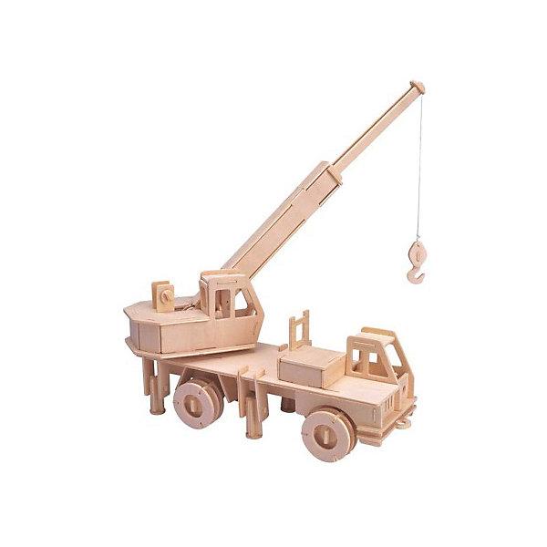 Кран, Мир деревянных игрушекДеревянные модели<br>Порадовать любящего технику творческого ребенка - легко! Подарите ему этот набор, из которого можно самому сделать красивую деревянную фигуру. Для этого нужно выдавить из пластины с деталями элементы для сборки и соединить их. Из наборов получаются красивые очень реалистичные игрушки, которые могут стать украшением комнаты.<br>Собирая их, ребенок будет развивать пространственное мышление, память и мелкую моторику. А раскрашивая готовое произведение, дети научатся подбирать цвета и будут развивать художественные навыки. Этот набор произведен из качественных и безопасных для детей материалов - дерево тщательно обработано.<br><br>Дополнительная информация:<br><br>материал: дерево;<br>цвет: бежевый;<br>элементы: пластины с деталями для сборки, схема сборки;<br>размер упаковки: 23 х 37 см.<br><br>3D-пазл Кран от бренда Мир деревянных игрушек можно купить в нашем магазине.<br>Ширина мм: 350; Глубина мм: 50; Высота мм: 225; Вес г: 450; Возраст от месяцев: 36; Возраст до месяцев: 144; Пол: Мужской; Возраст: Детский; SKU: 4969113;