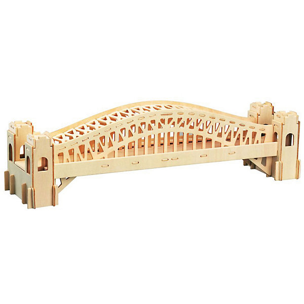 Сиднейский мост, Мир деревянных игрушекДеревянные модели<br>Отличный вариант подарка для любящего архитектуру творческого ребенка - этот набор, из которого можно самому сделать красивую деревянную фигуру! Для этого нужно выдавить из пластины с деталями элементы для сборки и соединить их. Из наборов получаются красивые очень реалистичные игрушки, которые могут стать украшением комнаты.<br>Собирая их, ребенок будет развивать пространственное мышление, память и мелкую моторику. А раскрашивая готовое произведение, дети научатся подбирать цвета и будут развивать художественные навыки. Этот набор произведен из качественных и безопасных для детей материалов - дерево тщательно обработано.<br><br>Дополнительная информация:<br><br>материал: дерево;<br>цвет: бежевый;<br>элементы: пластины с деталями для сборки, схема сборки;<br>размер упаковки: 23 х 37 см.<br><br>3D-пазл Сиднейский мост от бренда Мир деревянных игрушек можно купить в нашем магазине.<br>Ширина мм: 350; Глубина мм: 50; Высота мм: 225; Вес г: 450; Возраст от месяцев: 36; Возраст до месяцев: 144; Пол: Унисекс; Возраст: Детский; SKU: 4969170;
