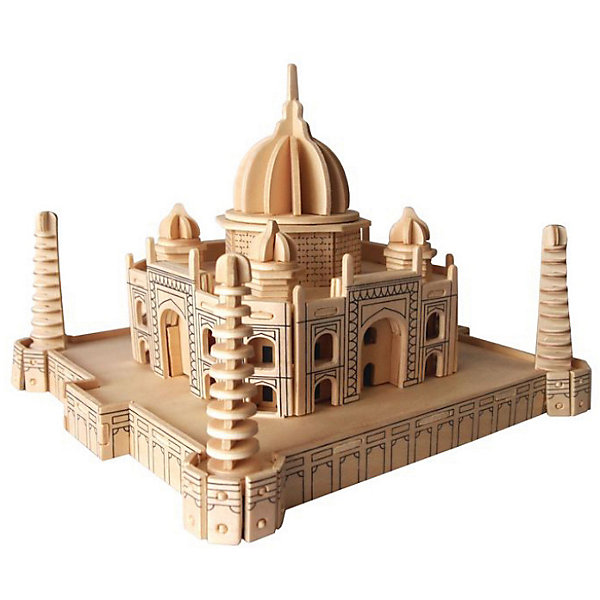 Тадж Махал, Мир деревянных игрушекДеревянные модели<br>Интересный вариант подарка для любящего архитектуру творческого ребенка - этот набор, из которого можно самому сделать красивую деревянную фигуру! Для этого нужно выдавить из пластины с деталями элементы для сборки и соединить их. Из наборов получаются красивые очень реалистичные игрушки, которые могут стать украшением комнаты.<br>Собирая их, ребенок будет развивать пространственное мышление, память и мелкую моторику. А раскрашивая готовое произведение, дети научатся подбирать цвета и будут развивать художественные навыки. Этот набор произведен из качественных и безопасных для детей материалов - дерево тщательно обработано.<br><br>Дополнительная информация:<br><br>материал: дерево;<br>цвет: бежевый;<br>элементы: пластины с деталями для сборки, схема сборки;<br>размер упаковки: 23 х 37 см.<br><br>3D-пазл Тадж Махал от бренда Мир деревянных игрушек можно купить в нашем магазине.<br>Ширина мм: 350; Глубина мм: 50; Высота мм: 225; Вес г: 450; Возраст от месяцев: 36; Возраст до месяцев: 144; Пол: Унисекс; Возраст: Детский; SKU: 4969180;