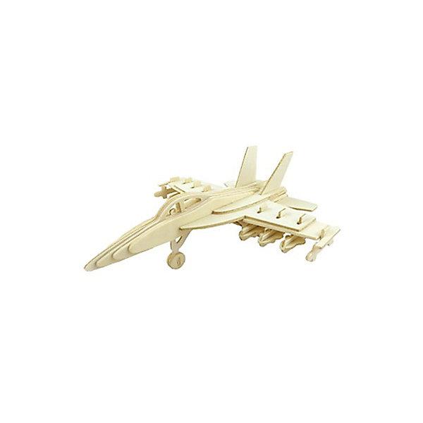 Самолет Су-27, Мир деревянных игрушекДеревянные модели<br>Отличный вариант подарка для любящего военную технику творческого ребенка - этот набор, из которого можно самому сделать красивую деревянную фигуру! Для этого нужно выдавить из пластины с деталями элементы для сборки и соединить их. Из наборов получаются красивые очень реалистичные игрушки, которые могут стать украшением комнаты.<br>Собирая их, ребенок будет развивать пространственное мышление, память и мелкую моторику. А раскрашивая готовое произведение, дети научатся подбирать цвета и будут развивать художественные навыки. Этот набор произведен из качественных и безопасных для детей материалов - дерево тщательно обработано.<br><br>Дополнительная информация:<br><br>материал: дерево;<br>цвет: бежевый;<br>элементы: пластины с деталями для сборки, схема сборки;<br>размер упаковки: 23 х 18 см.<br><br>3D-пазл Самолет Су-27 от бренда Мир деревянных игрушек можно купить в нашем магазине.<br>Ширина мм: 350; Глубина мм: 50; Высота мм: 225; Вес г: 450; Возраст от месяцев: 36; Возраст до месяцев: 144; Пол: Мужской; Возраст: Детский; SKU: 4969195;