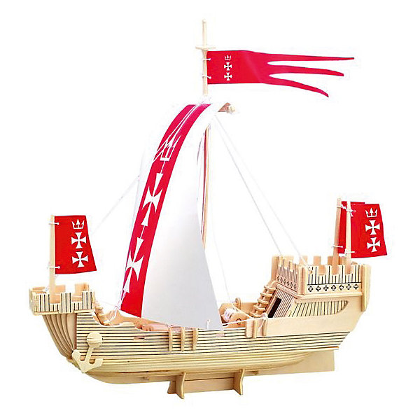 Корабль Ганзейского союза, Мир деревянных игрушекДеревянные модели<br>Порадовать творческого ребенка - легко! Закажите для него этот набор, из которого можно самому сделать красивую деревянную фигуру! Для этого нужно выдавить из пластины с деталями элементы для сборки и соединить их. Из наборов получаются красивые очень реалистичные игрушки, которые могут стать украшением комнаты.<br>Собирая их, ребенок будет развивать пространственное мышление, память и мелкую моторику. А раскрашивая готовое произведение, дети научатся подбирать цвета и будут развивать художественные навыки. Этот набор произведен из качественных и безопасных для детей материалов - дерево тщательно обработано.<br><br>Дополнительная информация:<br><br>материал: дерево;<br>цвет: бежевый;<br>элементы: пластины с деталями для сборки, схема сборки;<br>размер упаковки: 23 х 37 см.<br><br>3D-пазл Корабль Ганзейского союза от бренда Мир деревянных игрушек можно купить в нашем магазине.<br>Ширина мм: 350; Глубина мм: 50; Высота мм: 225; Вес г: 450; Возраст от месяцев: 36; Возраст до месяцев: 144; Пол: Унисекс; Возраст: Детский; SKU: 4969237;