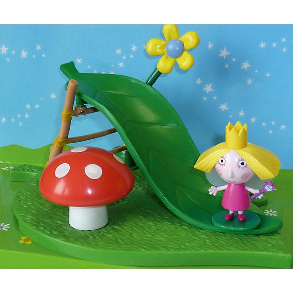 Росмэн Игровая площадка Горка с фигуркой Холли, Бен и Холли игрушки для ванны бен и холли набор для купания холли и друзья