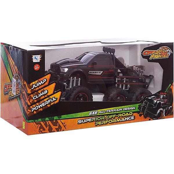 Junfa Пикап на р/у, с аккумуляторной батареей и батарейками для пульта, черный пикап на р у с аккумуляторной батареей и батарейками для пульта синий