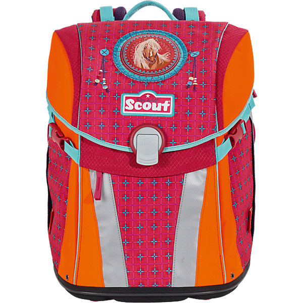 Scout Ранец Scout Sunny exklusiv Скакун, 4 предмета scout scout ранец genius exklusiv с наполнением 4 предмета пиратский корабль