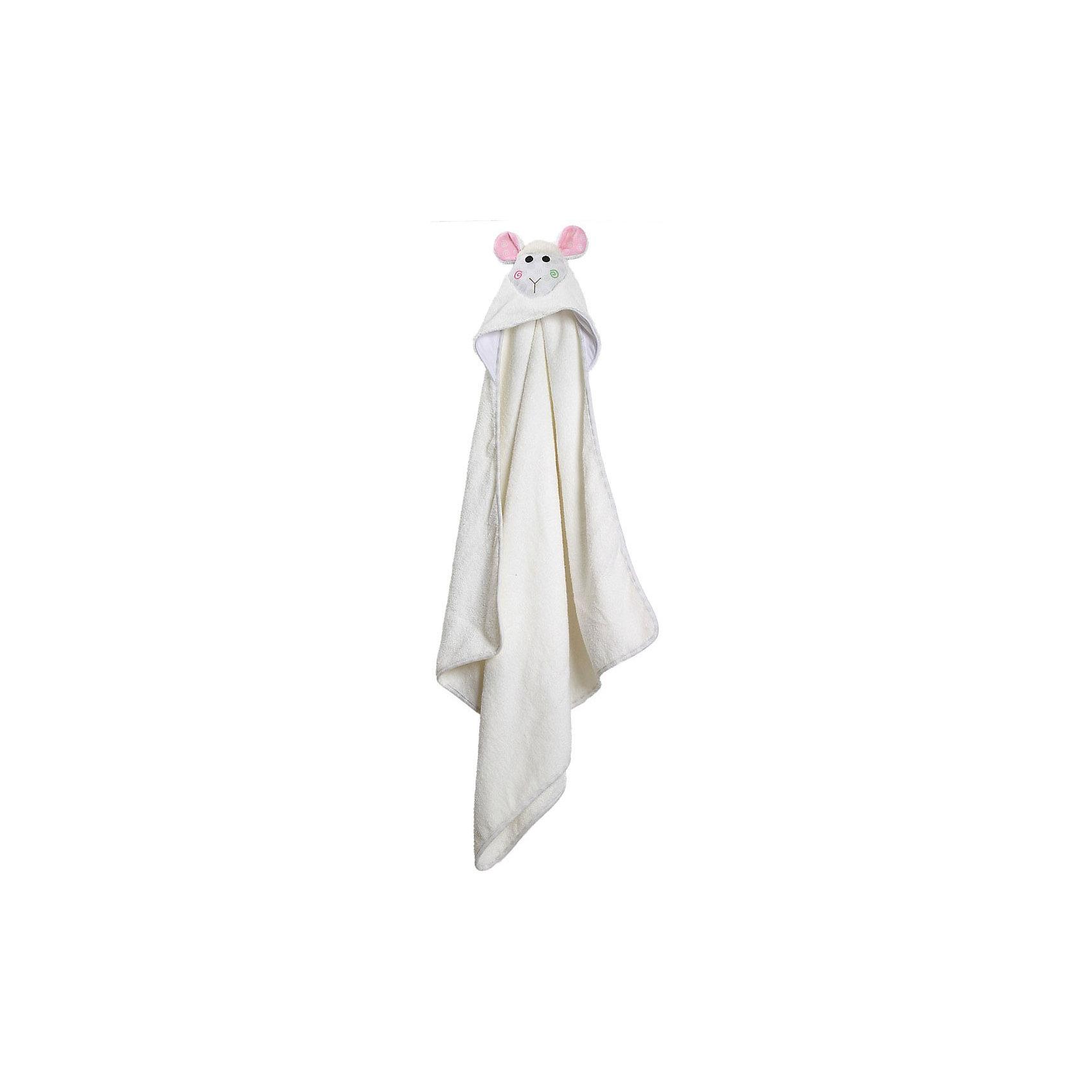 Полотенце с капюшоном Lola the Lamb (0-18 мес.), Zoocchini