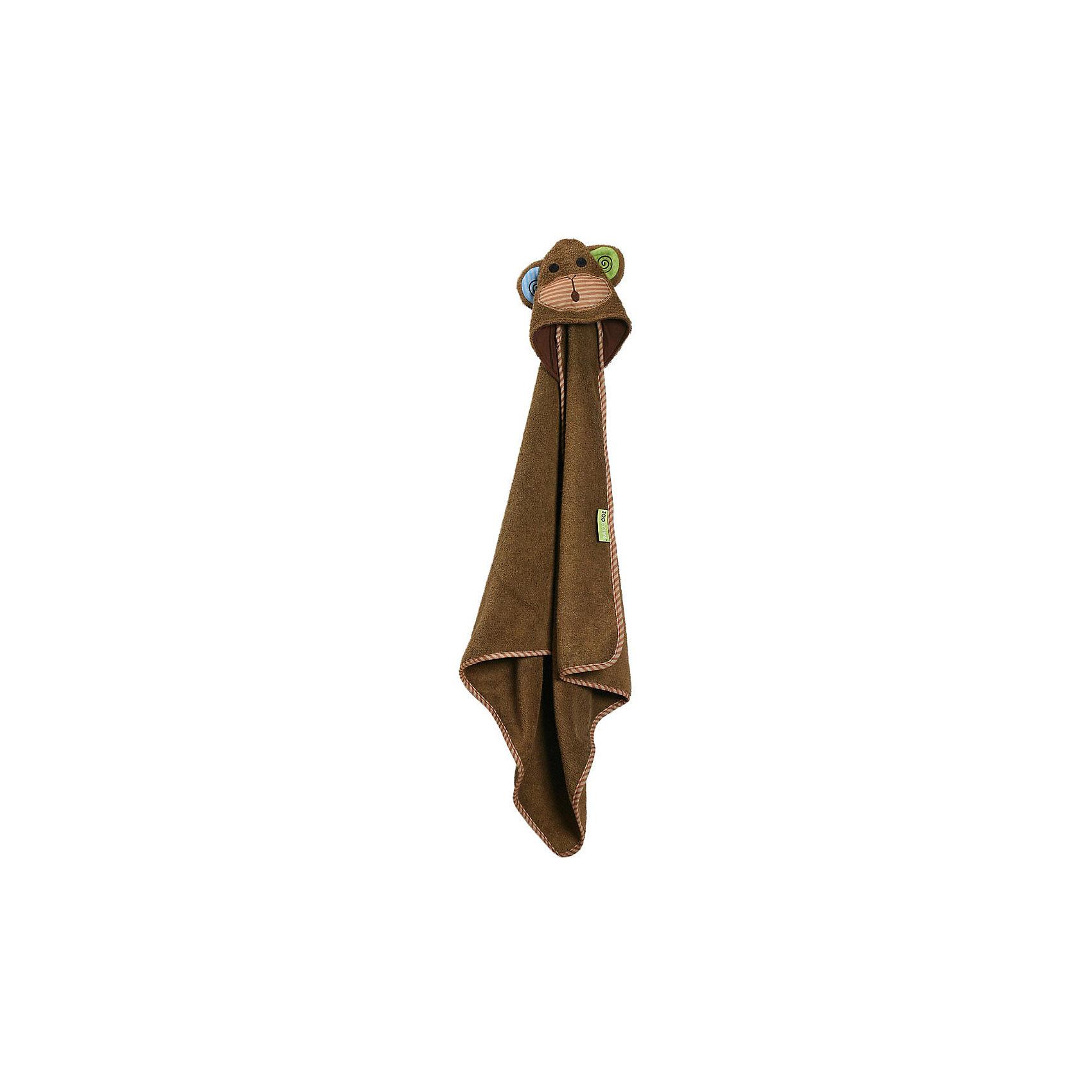 Полотенце с капюшоном Max the Monkey (0-18 мес.), Zoocchini