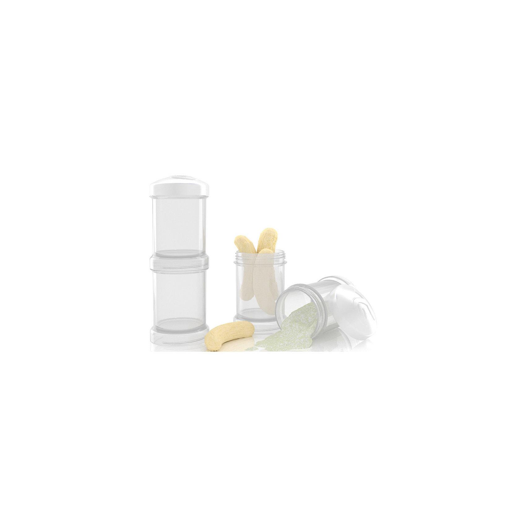 Контейнер для сухой смеси 100 мл. 2 шт., TwistShake, белый (Twistshake)