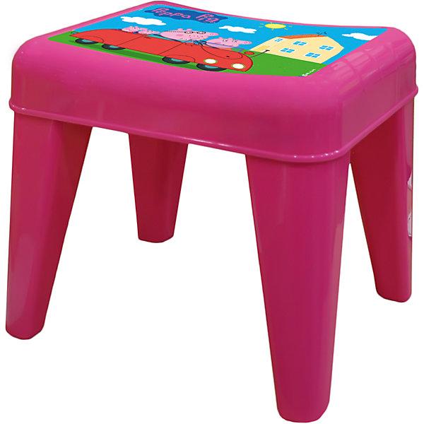 Табурет Я расту  Свинка Пеппа,Little Angel, розовыйДетские столы и стулья<br>Детский табурет – незаменимая вещь для растущего малыша. Он будет верным помощником не только в детской, но и в ванной, на кухне и в прихожей. Сидение разработано с учетом анатомических особенностей ребенка. Нескользящая поверхность сидения и противоскользящие накладки на ножках для использования на любой поверхности. Особо прочная конструкция ножек табурета для надежной и безопасной эксплуатации.<br>Ширина мм: 335; Глубина мм: 290; Высота мм: 300; Вес г: 1200; Возраст от месяцев: 24; Возраст до месяцев: 72; Пол: Женский; Возраст: Детский; SKU: 4976094;