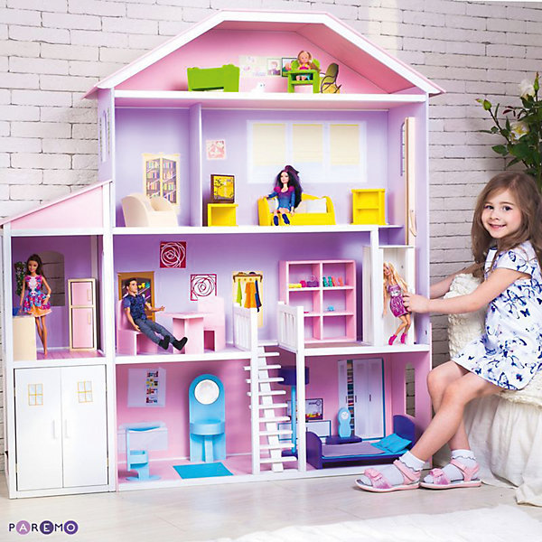 Купить Домик для Барби Фантазия , с аксессуарами, PAREMO, Россия, Женский