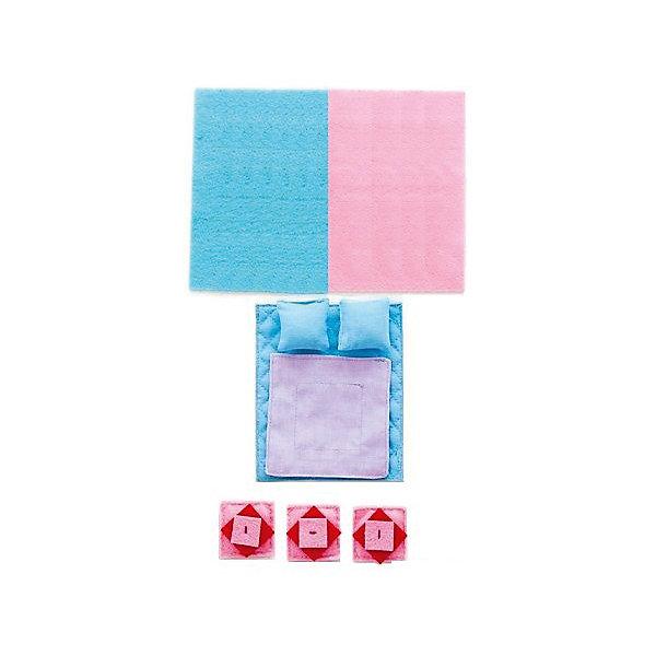 Набор текстиля для открытых домиков Роза Хутор, PAREMOАксессуары для кукол<br>Набор текстиля для открытых домиков Роза Хутор, PAREMO (Паремо).<br><br>Характеристики:<br><br>• Материал: текстиль<br>• Размер упаковки (см) 20х17х10<br>• Вес (кг) 0.1<br><br>В комплект входит 11 предметов:<br><br>- Для кукольной кровати: голубой матрас, сиреневое одеяло, 2 голубые подушки.<br>- Для люльки - белая простынь.<br>- Для дивана: 3 розовые подушки с красными вставками.<br>- Голубой коврик в спальню.<br>- 2 розовых коврика (в гостиную и в детскую).<br>С таким набором текстиля прелестный домик «Роза Хутор» примет законченный вид.<br><br>Мягкие подушечки, постельные принадлежности, а также коврики создадут теплую уютную атмосферу игрушечного домика. Ваша девочка почувствует себя настоящей хозяйкой очаровательного домика!<br><br>Набор текстиля для открытых домиков Роза Хутор, PAREMO (Паремо), можно купить в нашем интернет – магазине.<br>Ширина мм: 170; Глубина мм: 200; Высота мм: 10; Вес г: 100; Возраст от месяцев: 36; Возраст до месяцев: 120; Пол: Женский; Возраст: Детский; SKU: 4979525;