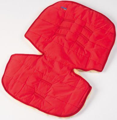 Меховой коврик для коляски и автокресла, Ramili, красный, артикул:4980607 - Автокресла