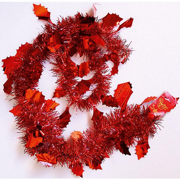 Мишура Красный 6*200 смНовогодняя мишура и бусы<br>Мишура в красном цвете отлично подойдет для украшения к новому году. Блеск мишуры создает приятную новогоднюю атмосферу.  Она не будет сыпаться, поэтому останется яркой и блестящей и будет радовать вас ещё не один год. <br><br>Характеристика:<br>-Размер: 6 м 200 см<br>-Цвет: красный<br>-Арт.: 34899<br><br>Мишуру Красный можно приобрести в нашем интернет-магазине.<br>Ширина мм: 100; Глубина мм: 100; Высота мм: 60; Вес г: 14; Возраст от месяцев: 36; Возраст до месяцев: 2147483647; Пол: Унисекс; Возраст: Детский; SKU: 4981443;