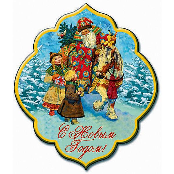Магнит Дед Мороз и детиНовогодние сувениры<br>Магнит Дед Мороз и дети - впустите атмосферу зимы и праздников в ваш дом! С этим подарочным магнитом так весело наряжать дом и радовать близких. небольшой магнитик красивой вырезной формы смотрится как полноценная небольшая картинка. На магните изображен дед Мороз, выезжающий из леса к детям, чтобы подарить им подарки и привезти нарядную ёлочку. На магните изображена ажурная надпись «С Новым Годом». Устройте сюрприз вашим близким!<br>Дополнительная информация:<br><br>- Размер: 5,4 * 6,3 см.<br>- Материал: агломеррированный феррит<br>Магнит Дед Мороз и дети можно купить в нашем интернет-магазине.<br>Подробнее:<br>• Для детей в возрасте: от 3 лет<br>• Номер товара: 4981492<br>Страна производитель: Китай<br>Ширина мм: 100; Глубина мм: 100; Высота мм: 10; Вес г: 150; Возраст от месяцев: 36; Возраст до месяцев: 2147483647; Пол: Унисекс; Возраст: Детский; SKU: 4981492;