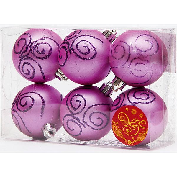 Набор шаров Фиолетовый с пурпурной вьюгой 6 штЁлочные игрушки<br>Новый год - самый любимый праздник у многих детей и взрослых. Праздничное настроение создает в первую очередь украшенный дом и, особенно, наряженная ёлка. Будь она из леса или искусственная - такой набор украсит любую!<br>Он сделан тиз безопасного для детей, прочного, но легкого, материала, поэтому не разобьется, упав на пол. Благодаря расцветке украшение отлично смотрится на ёлке. Создайте с ним праздничное настроение себе и близким!<br><br>Дополнительная информация:<br><br>цвет: фиолетовый;<br>материал: полистирол;<br>комплектация: 6 шт;<br>размер: 6 см.<br><br>Набор шаров Фиолетовый с пурпурной вьюгой 6 шт можно купить в нашем магазине.<br>Ширина мм: 300; Глубина мм: 250; Высота мм: 100; Вес г: 550; Возраст от месяцев: 36; Возраст до месяцев: 2147483647; Пол: Унисекс; Возраст: Детский; SKU: 4981561;
