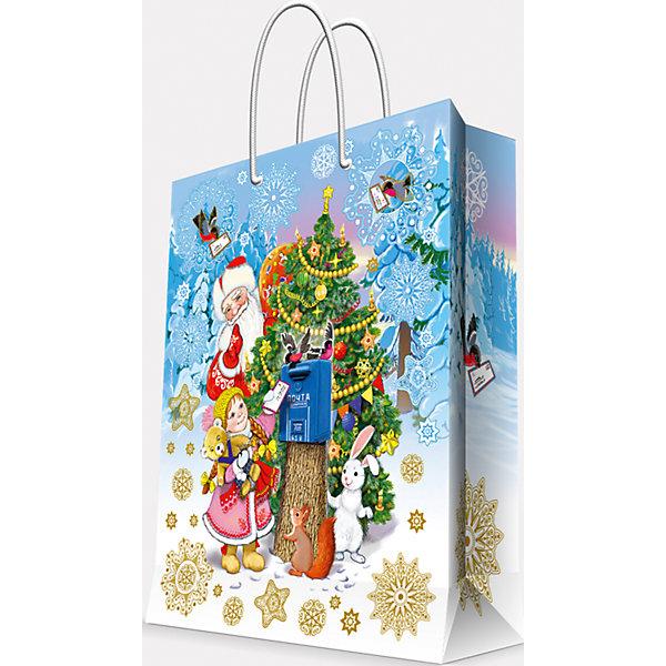Подарочный пакет Почта Деда Мороза 17,8*22,9*9,8Упаковка новогоднего подарка<br>Предновогодние хлопоты многие любят даже больше самого праздника! Праздничное настроение создает украшенный дом, наряженная ёлка, запах мандаринов, предновогодняя суета и, конечно же, подарки! Чтобы сделать момент вручения приятнее, нужен красивый подарочный пакет.<br>Этот пакет украшен симпатичным универсальным рисунком, поэтому в него можно упаковать подарок и родственнику, и коллеге. Он сделан из безопасного для детей, прочного, но легкого, материала. Создайте с ним праздничное настроение себе и близким!<br><br>Дополнительная информация:<br><br>плотность бумаги: 140 г/м2;<br>размер: 18 х 23 х 10 см;<br>с ламинацией;<br>украшен рисунком.<br><br>Подарочный пакет Почта Деда Мороза 17,8*22,9*9,8 см можно купить в нашем магазине.<br>Ширина мм: 178; Глубина мм: 229; Высота мм: 98; Вес г: 39; Возраст от месяцев: 36; Возраст до месяцев: 2147483647; Пол: Унисекс; Возраст: Детский; SKU: 4981599;
