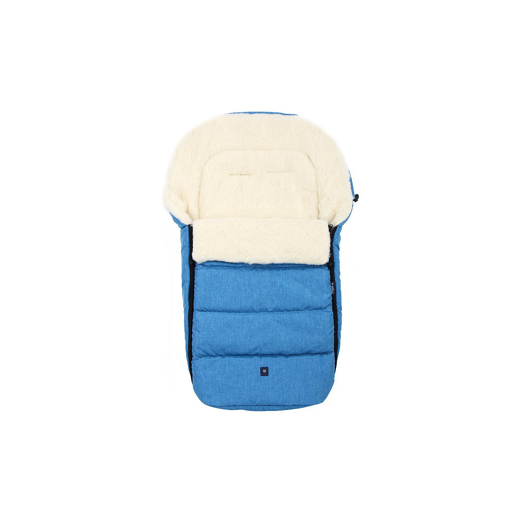 Конверт зимний №S77 Exclusive, 95*50, шерсть, Womar, синий