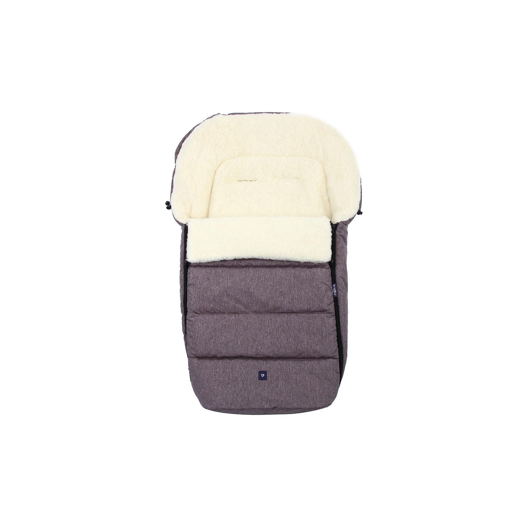 Конверт зимний №S77 Exclusive, 95*50, шерсть, Womar, коричневый