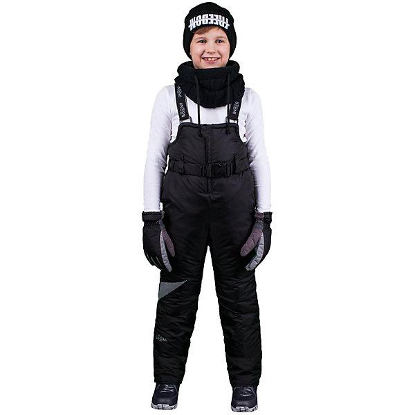 Полукомбинезон для мальчика BOOM by OrbyВерхняя одежда<br>Характеристики изделия:<br><br>- материа л верха: 100% полиэстер;;<br>- подкладка: ПЭ, флис;<br>- утеплитель: эко-синтепон 200 г/м2; <br>- фурнитура: металл, пластик;<br>- застежка: молния;<br>- регулируемые лямки;<br>- эластичный пояс;<br>- светоотражающие детали;<br>- температурный режим до -30°С<br><br>В холодный сезон важно одеть ребенка комфортно и тепло. Этот стильный и теплый полукомбинезон позволит мальчику наслаждаться зимним отдыхом, не боясь замерзнуть, и выглядеть при этом очень стильно.<br>Изделие плотно сидит благодаря продуманному крою и надежным застежкам. Оно смотрится очень эффектно благодаря стильному дизайну. Полукомбинезон дополнен карманами и эластичным поясом.<br><br>Полукомбинезон для мальчика от бренда BOOM by Orby можно купить в нашем магазине.<br>Ширина мм: 215; Глубина мм: 88; Высота мм: 191; Вес г: 336; Цвет: черный; Возраст от месяцев: 12; Возраст до месяцев: 15; Пол: Мужской; Возраст: Детский; Размер: 80,152,122,110,140,146,116,98,92,128,134,86,104,158; SKU: 4982839;