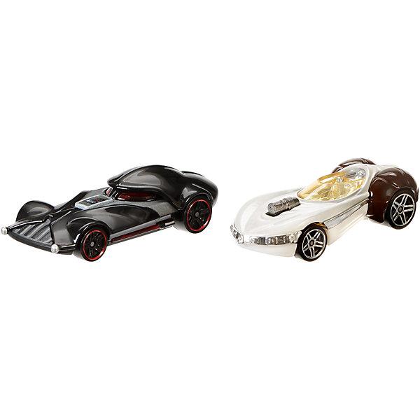 Mattel Набор машинок Hot Wheels Star Wars Дарт Вейдер и Принцесса Лея набор машинок hot wheels 54886 масштаб 1 64 10шт