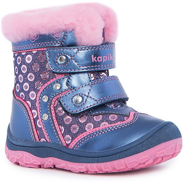 Сапоги для девочки KapikaОбувь для малышей<br>Полусапоги для девочки KAPIKA.<br><br>Температурный режим: до -20 градусов. Степень утепления – средняя. <br><br>* Температурный режим указан приблизительно — необходимо, прежде всего, ориентироваться на ощущения ребенка. <br><br>Красивые модные сапоги сделаны из натуральной кожи. Внутри также натуральный материал – овчина. Мех очень густой, поэтому сапоги подойдут на очень холодную погоду. Прорезиненная подошва и носок с защитой от стирания и попадания влаги. Застегиваются сапоги на молнию, фиксируются по ноге двумя липучками.<br><br>Дополнительная информация:<br><br>- материал верха: натуральная кожа<br>- материал подкладки: овчина<br>- цвет: синий, розовый<br><br>Полусапоги для девочки KAPIKA можно купить в нашем интернет магазине.<br>Ширина мм: 257; Глубина мм: 180; Высота мм: 130; Вес г: 420; Цвет: синий; Возраст от месяцев: 18; Возраст до месяцев: 21; Пол: Женский; Возраст: Детский; Размер: 21,25,24,22,23; SKU: 4988085;