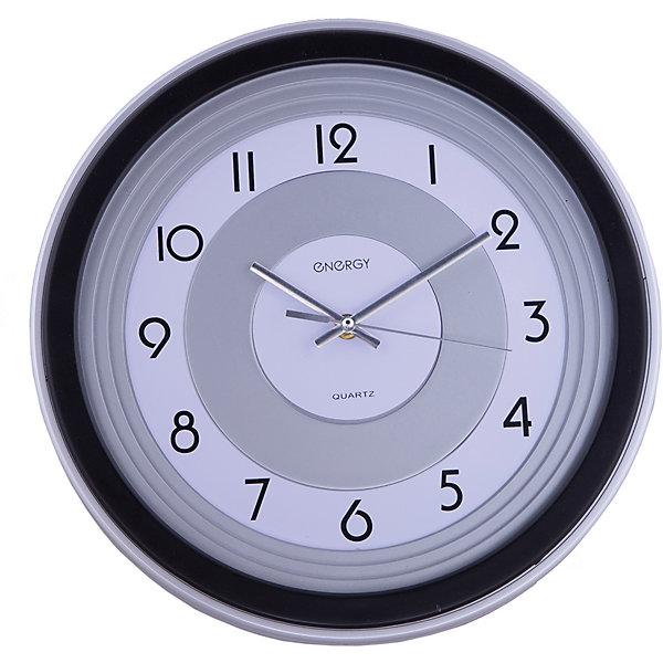 Часы настенные кварцевые ЕС-10, EnergyДетские предметы интерьера<br>Знать точное время вам помогут кварцевые часы Energy. Настенные часы круглой формы с крупными цифрами на циферблате оформлены в строгом серо-черном цвете. Плавный ход часов. <br><br>Дополнительная информация:<br><br>Размер: 33,5х33,5 см <br><br>Материал корпуса: пластик<br><br>Напряжение: 1.5В<br><br>Для работы настенных часов требуется приобрести батарейки: 1 шт. типа АА<br><br>Часы настенные кварцевые ЕС-10, Energy можно купить в нашем интернет-магазине.<br>Ширина мм: 330; Глубина мм: 50; Высота мм: 330; Вес г: 770; Возраст от месяцев: 36; Возраст до месяцев: 1080; Пол: Унисекс; Возраст: Детский; SKU: 4989891;