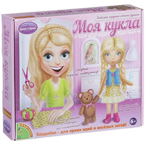 """Bondibon Любимая игрушка своими руками """"Кукла со светлыми волосами"""""""
