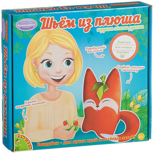 Фото - Bondibon Набор для шитья из плюша Лисичка набор для шитья bondibon шьем из плюша игрушка своими руками лисичка вв1557