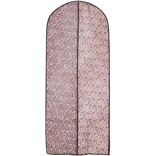 Чехол для одежды с боковой молнией,  большой, 60*137 см, CLASSIC, ValiantОрганайзеры для одежды<br>Чехол для одежды с боковой молнией,  большой, 60*137 см, CLASSIC, Valiant (Валиант) – это эстетичное решение для хранения одежды.<br>Чехол для одежды CLASSIC от Valiant (Валиант) разработан специально для хранения длинной верхней одежды: шуб, дубленок, пуховиков, пальто, плащей, костюмов и платьев. Он изготовлен из высококачественного нетканого материала, который обеспечивает естественную вентиляцию, позволяя воздуху проникать внутрь, но не пропускает пыль. Чехол предотвращает сминания вещей. Чехол с боковой застежкой-молнией легко открывается и закрывается. Идеально подойдет для транспортировки и хранения одежды. Изысканный дизайн чехла придется по вкусу ценителям классического стиля. Специально для CLASSIC Collection дизайнеры Valiant (Валиант) разработали фирменный классический вензель. Изысканный узор, гармония изящных линий, благородное сочетание цветов составляет основу элегантного дизайна CLASSIC Collection. Чехол для одежды CLASSIC от Valiant (Валиант) гармонично вписывается в современный классический гардероб.<br><br>Дополнительная информация:<br><br>- Размер: 60х137см.<br>- Материал: нетканый материал<br>- Цвет: коричневый, бежевый<br><br>Чехол для одежды с боковой молнией,  большой, 60*137 см, CLASSIC, Valiant (Валиант) можно купить в нашем интернет-магазине.<br>Ширина мм: 205; Глубина мм: 20; Высота мм: 440; Вес г: 246; Возраст от месяцев: 36; Возраст до месяцев: 1080; Пол: Унисекс; Возраст: Детский; SKU: 4993409;