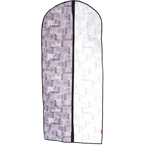 Чехол для одежды, большой, 60*137*10 см, JAPANESE BLACK, ValiantОрганайзеры для одежды<br>Чехол для одежды, большой, 60*137*10 см, JAPANESE BLACK, Valiant (Валиант) – это эстетичное решение для хранения одежды.<br>Чехол для одежды JAPANESE BLACK от Valiant (Валиант) разработан специально для хранения длинной верхней одежды: шуб, дубленок, пуховиков, пальто, плащей, костюмов и платьев. Он изготовлен из высококачественного нетканого материала, который обеспечивает естественную вентиляцию, позволяя воздуху проникать внутрь, но не пропускает пыль. Чехол очень удобен в использовании. Прозрачная вставка позволит увидеть вещь в чехле, не расстегивая его. Чехол легко открывается и закрывается застежкой-молнией. Идеально подойдет для хранения одежды и удобной перевозки. Чехол JAPANESE BLACK от Valiant (Валиант) гармонично смотрится в гардеробе. Лаконичный и сдержанный дизайн, напоминающий характер самурая, разработан специально для тех, кто предпочитает строгие линии и неяркие практичные цвета. В принте использованы японские иероглифы богатство, удача, благодеяние, гармония, мир и согласие.<br><br>Дополнительная информация:<br><br>- Размер: 60х137х10 см.<br>- Материал: нетканый материал, ПВХ<br>- Цвет: серый, черный<br><br>Чехол для одежды, большой, 60*137*10 см, JAPANESE BLACK, Valiant (Валиант) можно купить в нашем интернет-магазине.<br>Ширина мм: 210; Глубина мм: 15; Высота мм: 450; Вес г: 246; Возраст от месяцев: 36; Возраст до месяцев: 1080; Пол: Унисекс; Возраст: Детский; SKU: 4993439;