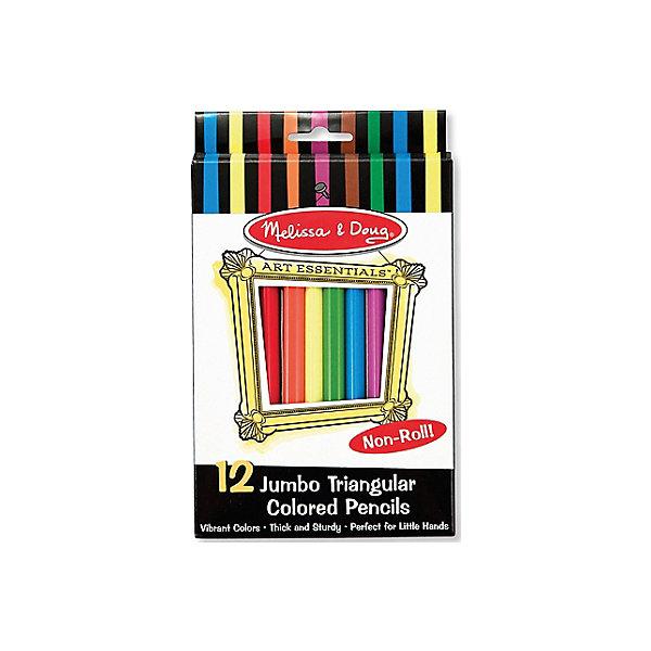 Melissa & Doug Набор карандашей 12 шт. brunnen набор цветных карандашей fans of earth 12 цветов